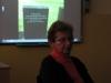 Beseda s PhDr. Dagmar Lieblovou, přeživší z Březinky (Auschwitz II Birkenau), předsedkyní Terezínské iniciativy. Trhová Kamenice (Pardubický kraj), místní základní škola.