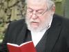 Modlitbu za zemřelé přednesl vrchní zemský rabín Karol Sidon. Pietní akt za oběti holocaustu - židovský hřbitov Dřevíkov, Pardubický kraj, 2. 9. 2012